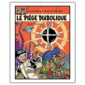 Poster offset Blake and Mortimer, Le Piège diabolique (28x35,5cm)