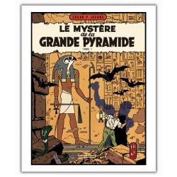 Poster affiche Blake et Mortimer Le Mystère de la Grande Pyramide T1 (28x35,5cm)