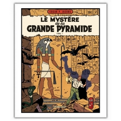 Poster offset Blake and Mortimer Le Mystère de la Grande Pyramide T1 (28x35,5cm)