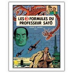 Poster affiche Blake et Mortimer Trois Formules professeur Satō T1 (28x35,5cm)