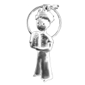 Collection Keychain The Little Prince with rose Les étains de Virginie (2019)
