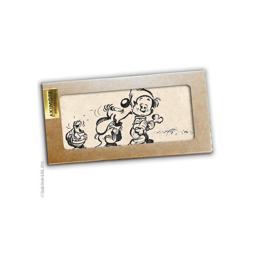 plaque de marbre de collection boule bill amis pour toujours 20x10cm bd addik. Black Bedroom Furniture Sets. Home Design Ideas