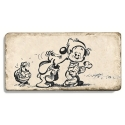 Collectible marble sign Billy & Buddy, Friends forever (20x10cm)
