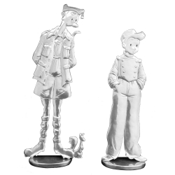 Figurines Les étains de Virginie The Spirou and Fantasio of Émile Bravo (2019)