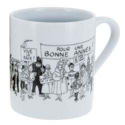 Porcelain mug Tintin collection Carte de voeux 1972 (46517)