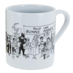 Taza mug de porcelana Tintín colección Carte de voeux 1972 (47976)