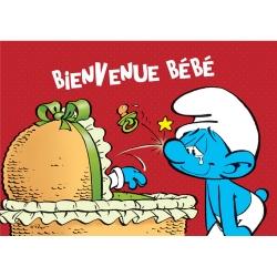 Carte postale Les Schtroumpfs, Bienvenue Bébé (10x15cm)