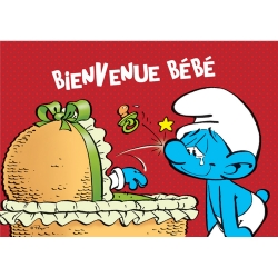 Postcard The Smurfs, Welcome Baby (10x15cm)