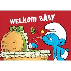 Carte postale Les Schtroumpfs, Welkom Baby (10x15cm)