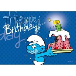 Postal Los Pitufos, Happy Birthday (10x15cm)