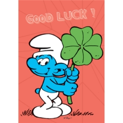 Postcard The Smurfs, Smurf Good Luck ! (15x10cm)