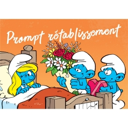 Postcard The Smurfs, Smurfette Prompt rétablissement (15x10cm)