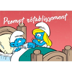 Postcard The Smurfs, Smurf Prompt rétablissement (15x10cm)