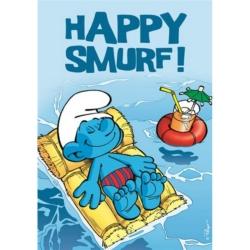 Postal Los Pitufos, Happy Smurf ! (10x15cm)