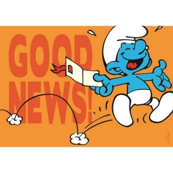 Postcard The Smurfs, Good News ! (15x10cm)