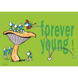 Carte postale Les Schtroumpfs, Forever Young ! (15x10cm)