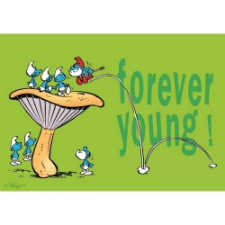 Postcard The Smurfs, Forever Young ! (15x10cm)