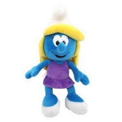 Soft Cuddly Toy Puppy The Smurfs: The Smurfette in purple dress 20cm (755324)