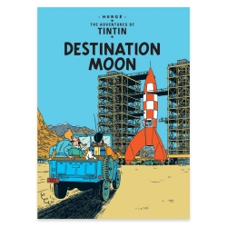 Carte postale album de Tintin: Destination Moon 34084 (10x15cm)