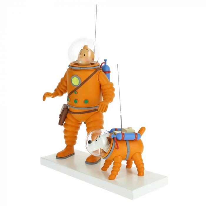 Figurine Moulinsart Fariboles Tintin et Milou cosmonaute sur la lune 44023 (2019
