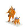 Figura Moulinsart Fariboles Tintín y Milú cosmonauta en la luna 44023 (2019)