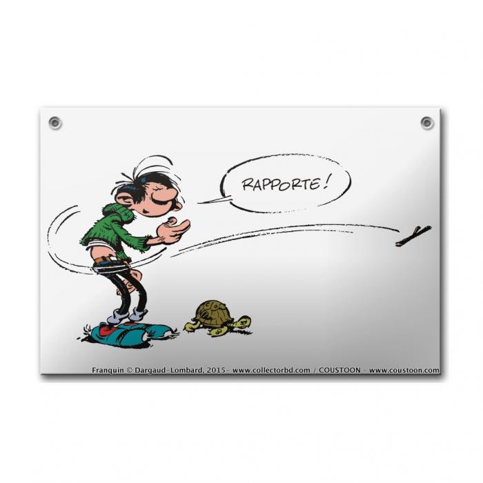 Placa esmaltada cómics Coustoon Tomás el Gafe y la Tortuga COUS37 (2015)