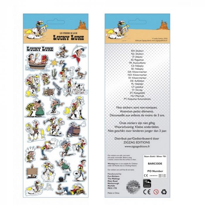 Board of stickers Lucky Luke 31x11cm (FSLL01)