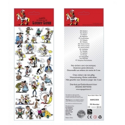 Planche de stickers autocollants Lucky Luke 31x11cm (FSLL02)