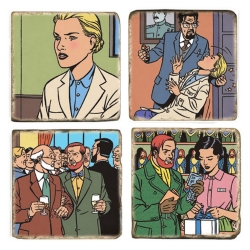 Marbles signs Blake and Mortimer The Voronov Plot (5x5cm)