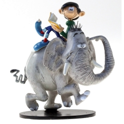 Figurine de collection Pixi Gaston Lagaffe et l'éléphant 6600 (2019)