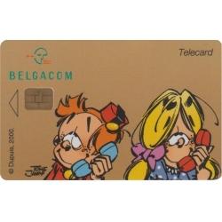 Tarjeta telefónica de colección Belgacom El Pequeño Spirou (1998)