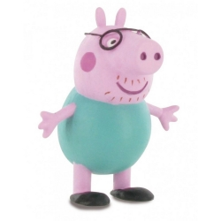 Collectible Figurine Comansi Peppa Pig, Daddy Pig 7cm (2013)