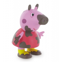 Figurine de collection Comansi Peppa Pig plein de boue 7cm (2013)