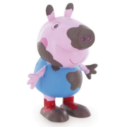 Figurine de collection Comansi Peppa Pig, George plein de boue 7cm (2013)