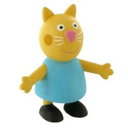 Figura de colección Comansi Peppa Pig, Gato Candy 7cm (2013)