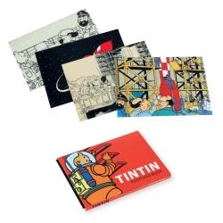 Set de 16 Cartes postales des aventures de Tintin sur la lune 31309 (10x15cm)