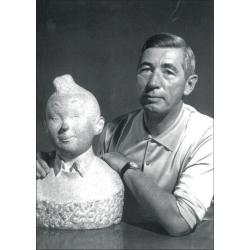 Postal Retrato de Hergé, Robert Kayaert: Busto de Tintín, 1960 (10x15cm)