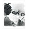 Postcard Hergé's portrait by Robert Kayaert: Studio Tintin, 1964 (10x15cm)