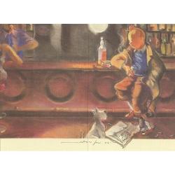 Ex-libris Offset Hommage à Tintin, F. Miro N°1 (23,5x17cm)