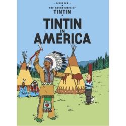 Postcard Tintin Album: Tintin in America 34071(10x15cm)