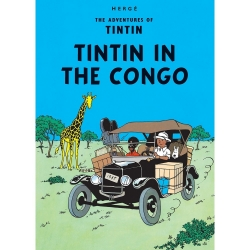 Carte postale album de Tintin: Tintin in the Congo 34070 (10x15cm)