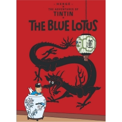 Carte postale album de Tintin: The Blue Lotus 34073 (10x15cm)