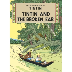 Carte postale album de Tintin: Tintin and The Broken Ear 34074 (10x15cm)