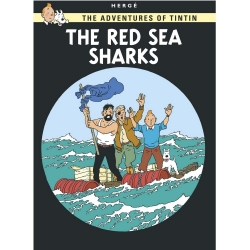 Postcard Tintin Album: The Red Sea Sharks 34087 (10x15cm)