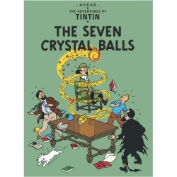 Carte postale album de Tintin: The Seven Crystal Balls 34081 (10x15cm)