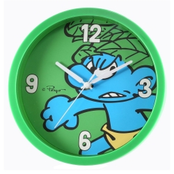 Decorative wall clock The Smurfs 25cm (Wild Green Smurf)