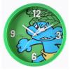 Reloj mural decorativo Los Pitufos 25cm (Pitufo Salvaje Verde)