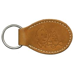 Porte-clés en cuir Citime de Tintin et MIlou (8,5cm)