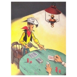 Poster affiche offset Equinoxe Lucky Luke Poker (30x40cm)