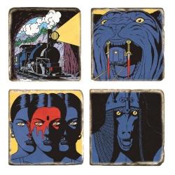 Placas de Mármol Blake y Mortimer Los sarcófagos del 6º continente T1 (5x5cm)